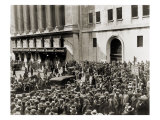 Crowd Gathers Outside the New York Stock Exchange During the Crash of October 1929, Poster