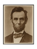 Abraham Lincoln in the Classic Portrait by Alexander Gardner of November 15, 1863 Photographie