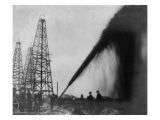 Gusher in a Port Arthur, Texas Oil Well in 1901 Photo