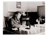 Booker T. Washington, Writing at His Desk Photo