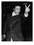 Lenny Bruce Social Critic and Comedian, Raising His Hand in V Sign, During His 1964 Obscenity Trial Print