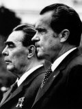 Soviet Premier Leonid Brezhnev and US President Richard Nixon at White House, Washington DC, 1973 Photo