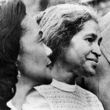 Civil Rights Activists Coretta King and Rosa Parks in Montgomery, Alabama, 1975 Posters