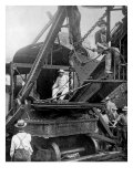 President Theodore Roosevelt on a Steam Shovel Digging the Culebra Cut of the Panama Canal, 1906 Photo