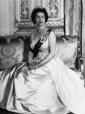 Queen Elizabeth II of England, Buckingham Palace, London, England, Late 1960s Photo