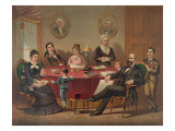 The James Garfield Family in 1880, the Year of His Election to the U.S. Presidency Posters