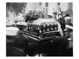 President Warren Harding's Flag Draped Coffin at His Funeral in 1923 Photo