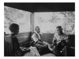 Zora Neale Hurston, Rochelle French, and Gabriel Brown, in Eatonville, Florida Recording, 1935 Photo