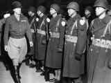 Lieutenant General George Patton, Inspecting Troops in the European Theatre of Operations, 1944 Photo