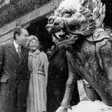 U.S. President Richard Nixon and First Lady Pat Nixon, on a Tour of Peking, China Photo