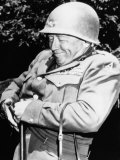 General George S. Patton Jr., U.S. Army General, after Acquiring a New Pistol, France, 1944 Posters