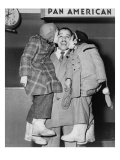 Cab Calloway, Greeted by His Daughters, Chris and Lael, at the Airport in 1951 Posters