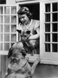 Queen of England Princess Elizabeth with Pet German Shepherds, 1936 Photo