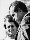 1971 US Presidency, Prime Minister of India Indira Gandhi and President Richard Nixon, 1971 Photo