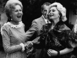 First Lady Patricia Nixon with Zsa Zsa Gabor, in California, 1972 Photo