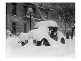 1920's Model Car Is Covered with Snow after a January 1922 Blizzard in Washington, D.C Photo