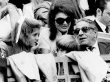 Caroline Kennedy, John F. Kennedy Jr., Jacqueline and Aristotle Onassis Watch World Series, 1969 Photo