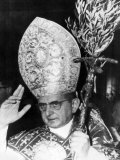 Pope Paul Vi, Blessing Crowd in St. Peter's Basilica on Palm Sunday, Vatican City, April 3rd, 1966 Posters