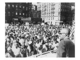 Malcolm X, Speaking to an Outdoor Rally in Harlem in 1963 Posters