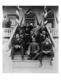 Booker T. Washington, Second Row, Center, with His Associates at Tuskegee Institute, 1915 Posters