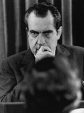 US President Richard Nixon at a Press Conference, 1972 Photo