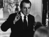 US President Richard Nixon Addresses a Group of Foreign Labor Leaders, Washington, D.C., 1972 Posters