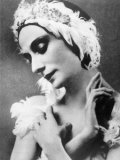 Russian Ballet Dancer Anna Pavlova, in Her Role of the Swan in 'The Dying Swan', 1910s