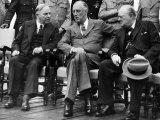 W.L. Mackenzie King, Franklin D. Roosevelt, Winston Churchill, Quebec Conference, Quebec City, 1944 Photo
