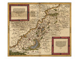 1588 Map of Palestine by Sebastian Munster Posters