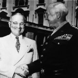 President Harry Truman, Shaking Hands with General George S. Patton Jr., 1945 Posters