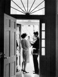 Senator John F. Kennedy, Jackie Kennedy, Caroline Kennedy, 1960 Photo