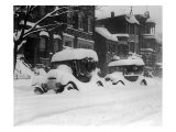 1920's Model Cars are Covered with Snow after January 1922 Blizzard in Washington, D.C Posters