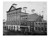 Ford's Theatre on April 14, 1865 After Assassination with Guards Posted at Entrance, Giclee Print