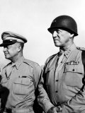 General Dwight Eisenhower, General George Patton, 1940's Photo