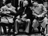 Winston Churchill, Franklin D. Roosevelt and Josef Stalin, Yalta Conference, February 1945 Print