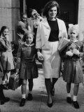 Caroline Kennedy, Jacqueline Kennedy, Sydney Lawford, at End of School Day, September 16, 1964 Posters