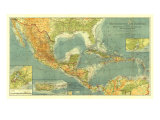 1922 Countries of the Caribbean Map Posters by  National Geographic Maps