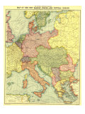 New Balkan States And Central Europe Map 1914 Poster