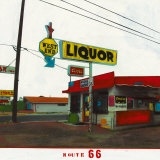 Route 66: West End Liquor Posters af Ayline Olukman