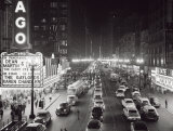Night Scene of Chicago State Street, c.1953 Plakater af H. Armstrong Roberts