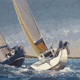 Bord a Bord Print by Guy Dekeryver