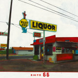 Route 66: West End Liquor Kunst af Ayline Olukman