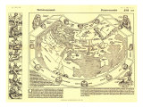 1893 Chronicon Nurembergense 1493 Map Art by  National Geographic Maps