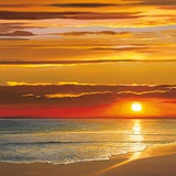 Sunset on the Sea Print by Dan Werner