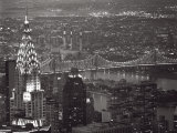 Chrysler Building and Queensboro Bridge Poster by Murat Taner