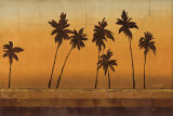 Sunset Palms I Poster by Cheryl Martin