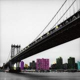 Pont de Manhattan Affiche par Anne Valverde