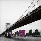 Manhattan Bridge Print by Anne Valverde