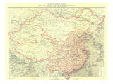 China And Its Territories Map 1912 Prints