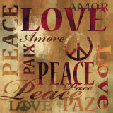 Peace and Love Kunstdruck von Luke Wilson
